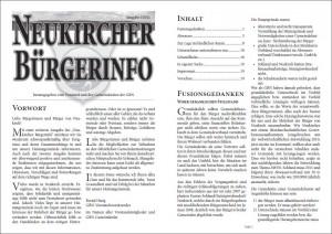 Bürgerinfo 2011
